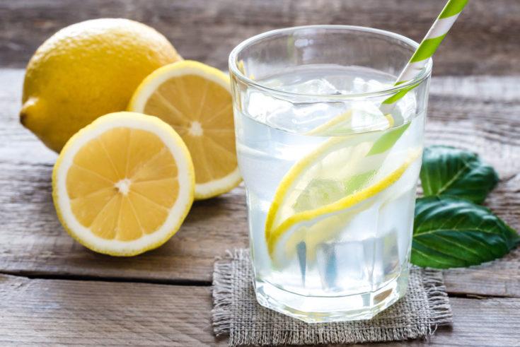 lemon or lime water