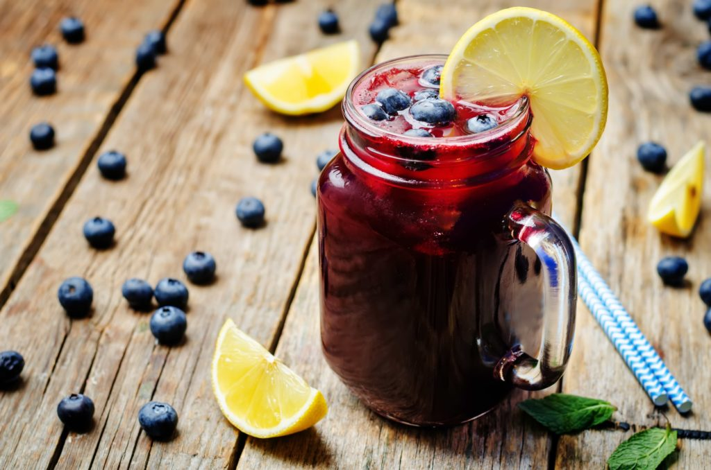 Wild blueberry lemonade recipe - great for hydration