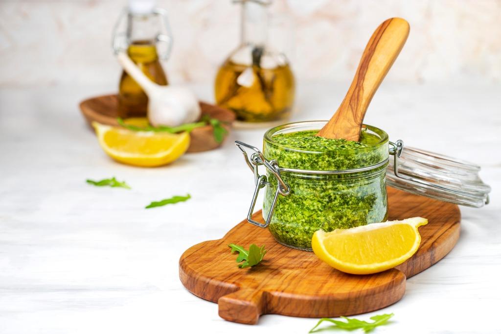 Vegan Oil-Free Basil Pesto