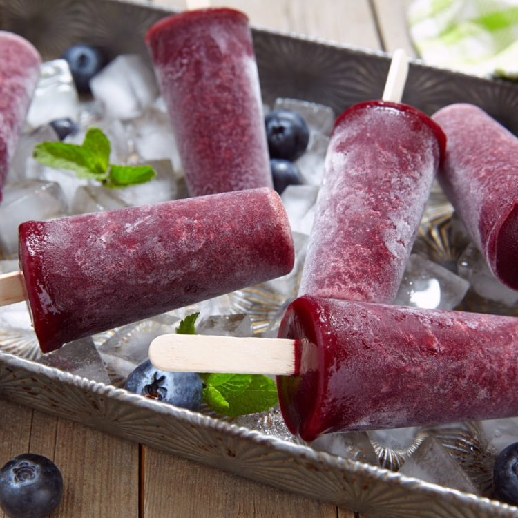 Lemon Balm Popsicles