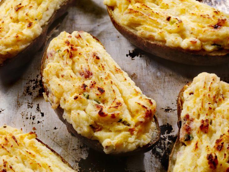 Easy and Cheesy Twice Baked Potatoes