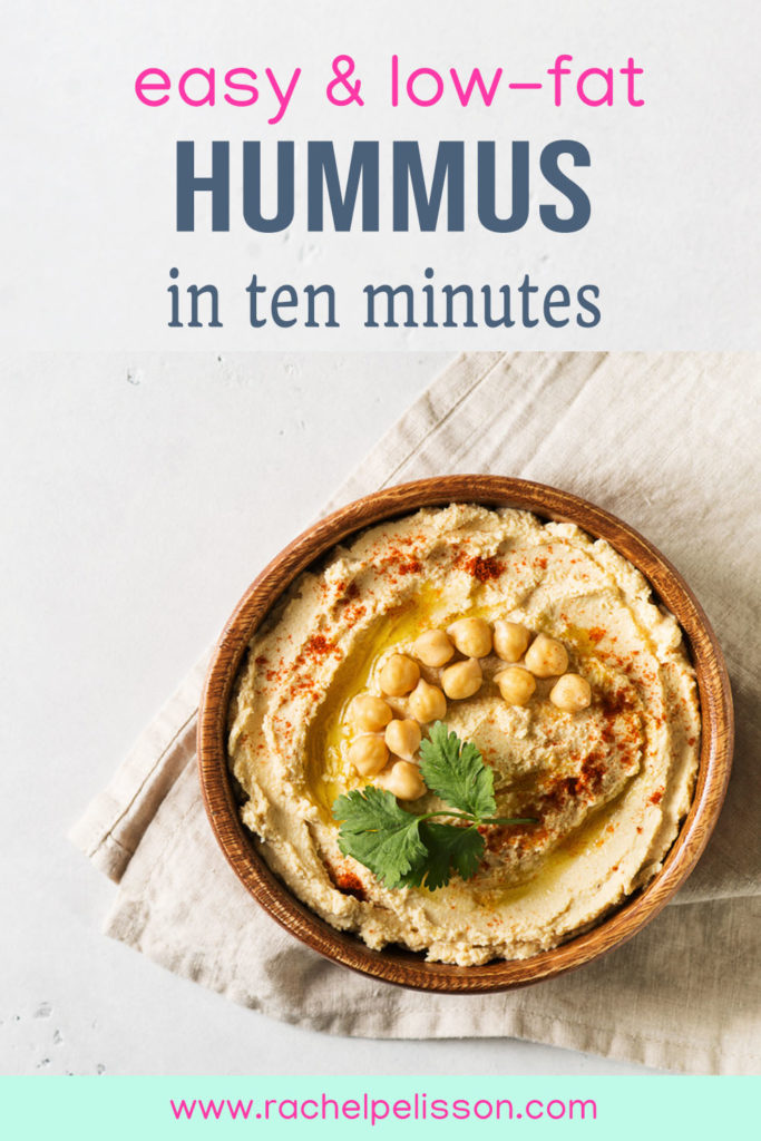 Easy and low-fat hummus that you can make in ten minutes
