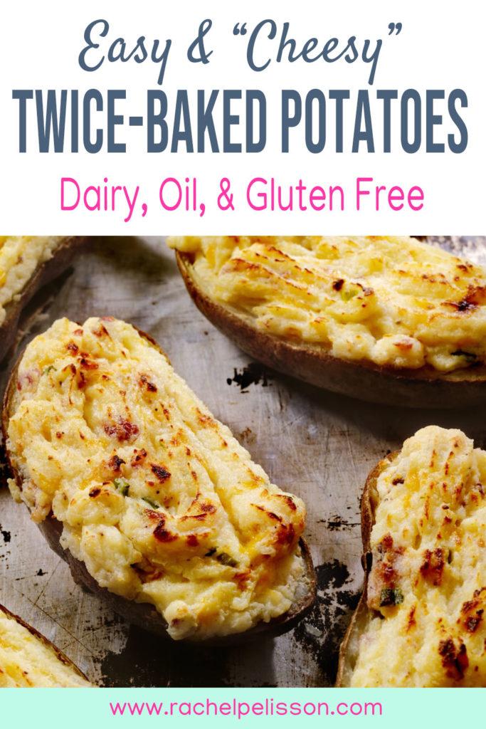 Easy and Cheesy Vegan Twice-Baked Potatoes