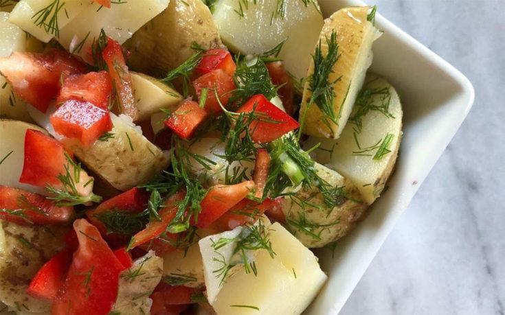 Red Pepper & Dill Potato Salad