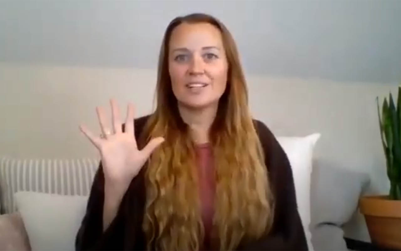 Rachel Pelisson sharing about spiritual businesses.