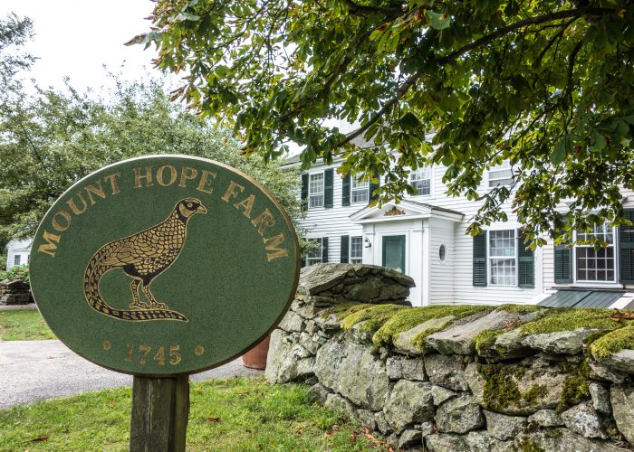 Mount Hope Farm (also known as Gov. William Bradford House) is an historic estate on Metacom Avenue in Bristol, Rhode Island, USA.The farm is located near the Mount Hope Bridge in Bristol, Rhode Island, and the grounds have been farmed since the 1680s. The farm house, built around 1745, was owned by Governor William Bradford, and the farms has over 200 acres (81 ha) of land with many historic buildings. The farm was added to the National Register of Historic Places in 1977 as building #77000023.